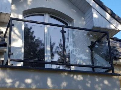 balustrada z szklem arko