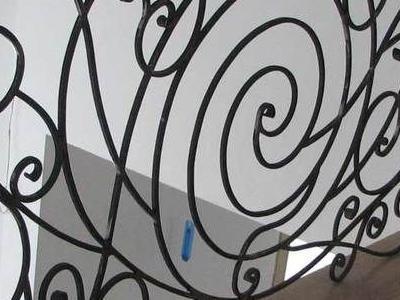 nowoczesna zaokrąglona balustrada